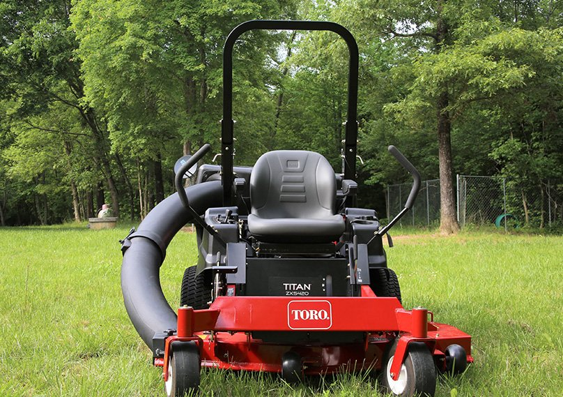 Mower with bagger attachment